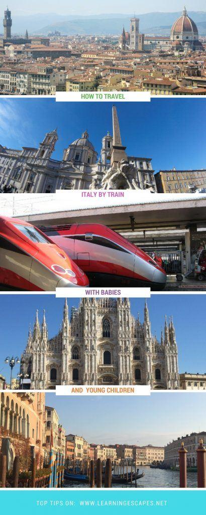 Šeimos vadovas kelionėms po Italiją su kūdikiais ir mažais vaikais.  Prieš važiuodami traukiniu Italijoje, sužinokite, ko tikėtis: kaip to tikėtis, kaip tai veikia, kokios šeimos paslaugos yra prieinamos tiems, kurie nori keliauti po Italiją traukiniu su kūdikiais ar mažais vaikais