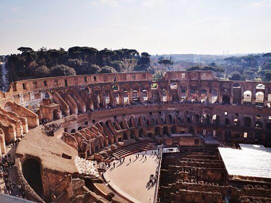 Roma privalo pamatyti Koliziejaus vietas
