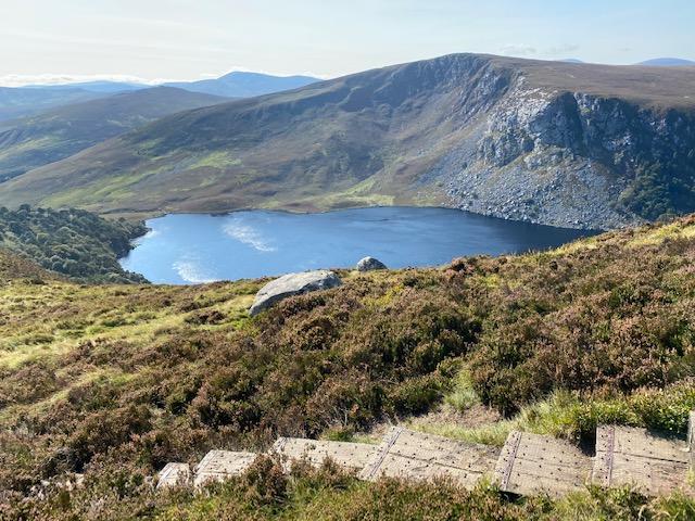 ežero vaizdas wicklow airija