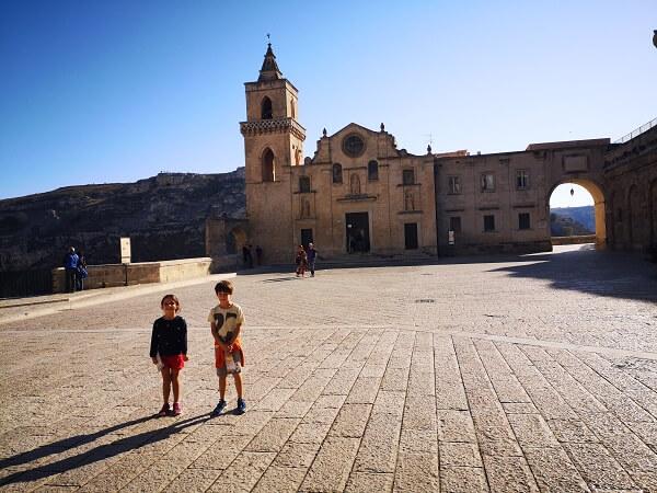 Vaikai Matera Italijoje